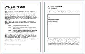 Pride and Prejudice - Soundtrack Project