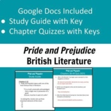 Pride and Prejudice Study Guide and Quizzes with Keys
