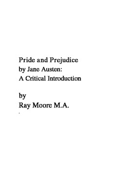 """Pride and Prejudice"" by Jane Austen: A Critical Introduction"