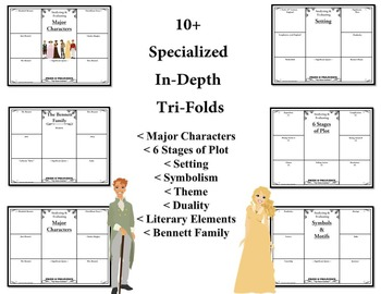 Pride and Prejudice by Jane Austen Character & Plot Analysis Tri-Folds