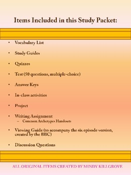 Pride and Prejudice by Jane Austen: Complete Study Guide (Now Editable)