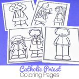 Priest Coloring Pages: No Prep Catholic Activities