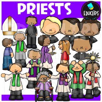Priests Clip Art Bundle {Educlips Clipart}