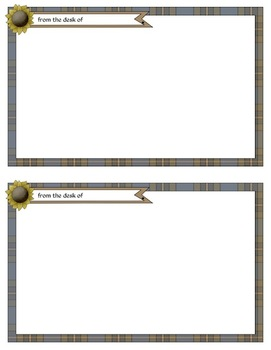 Prim Sunflower Teacher Stationery Set: Personalizable