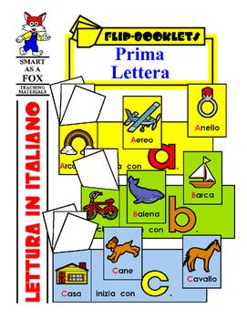 Prima Lettera - Beginning Letter Flip Books in Italian