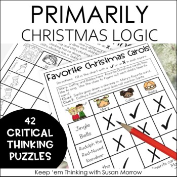 Christmas Logic Puzzles Gr. 1-3: Beginning Logic Puzzles