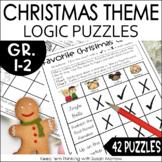 Christmas Logic Puzzles Gr. 1-3: Beginning Logic Puzzles D