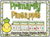 Primarily Pineapple | Classroom Décor Poster Bundle