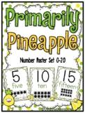 Primarily Pineapple | Number Poster Set | Polka Dot