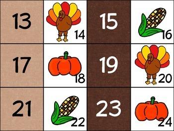 Primary November Calendar Cards (Set 1)