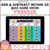Primary 1 Add & Subtract Within 20 Quiz Game Show Boom Car