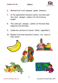 English Exercise Book – Primary 1 (ages 6+) (Vocabulary, Grammar, Comprehension)