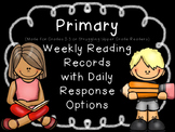EDITABLE SKILLS BASED Weekly Reading Logs PRIMARY (CCSS RL