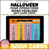 Primary 2 Halloween Four Operations Word Problems Quiz Gam