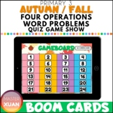 Primary 3 Autumn / Fall Four Operations Word Problems Quiz