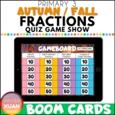 Primary 3 Autumn / Fall Fractions Quiz Game Show Boom Card
