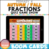 Primary 4 Autumn / Fall Fractions Quiz Game Show Boom Card