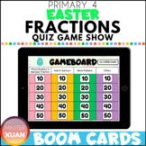 Primary 4 Easter Fractions Quiz Game Show Boom Cards Digit
