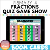 Primary 4 Fractions Quiz Game Show Boom Cards Distance Learning