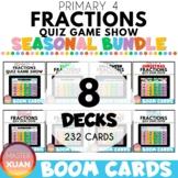 Primary 4 Fractions Quiz Game Show SEASONAL BUNDLE Boom Ca