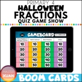 Primary 4 Halloween Fractions Quiz Game Show Boom Cards Di