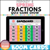 Primary 4 Spring Fractions Quiz Game Show Boom Cards Dista