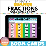 Primary 4 Summer Fractions Quiz Game Show Boom Cards Dista