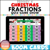 Primary 4 Christmas Fractions Quiz Game Show Boom Cards Di