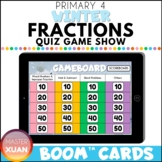 Primary 4 Winter Fractions Quiz Game Show Boom Cards Dista