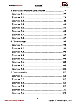 English Exercise Book – Primary 4 (ages 8+) (Vocabulary, Grammar, Comprehension)