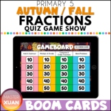 Primary 5 Autumn / Fall Fractions Quiz Game Show Boom Card