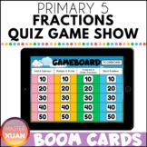 Primary 5 Fractions Quiz Game Show Boom Cards Distance Learning