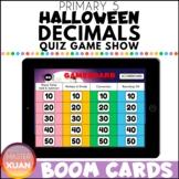 Primary 5 Halloween Decimals Quiz Game Show Boom Cards Dis
