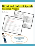 Primary 5 and 6 Worksheet - Direct Indirect Speech Practice