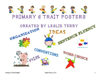 Primary 6 Traits of Writing: Posters, Overview, & Links to Instruction
