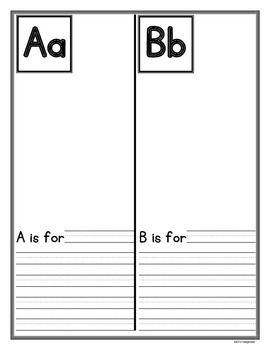 Primary ABC Book Planning Pages and Student Booklet
