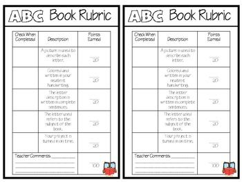Primary ABC Book Project Template