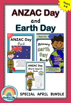 Primary ANZAC Day and Earth Day April BUNDLE