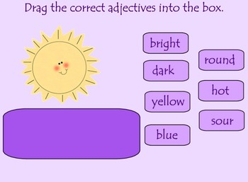 Adjectives Smart Board Lesson for Primary