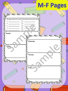 Primary Agenda / Planner {Circles Theme} with spelling/sight words space