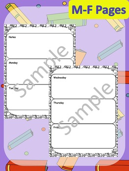 """Primary Agenda / Planner {Circles Theme} with blank """"notes"""" space"""