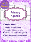 "Primary Agenda / Planner {Circles Theme} with blank ""notes"" space"
