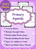 Primary Agenda / Planner {Stars Theme} with spelling/sight words space