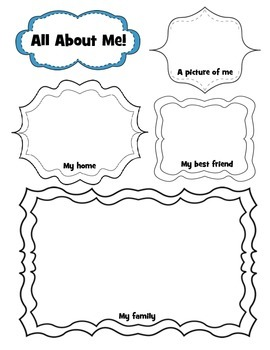 Primary All About Me Ice-Breaker for First Day of School