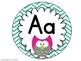 Primary Alphabet Line: Chevron and Owls