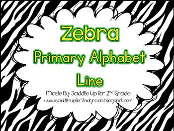 Primary Alphabet Line: Zebra