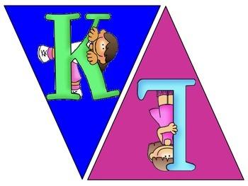 Primary Alphabet Pennant Brights Set