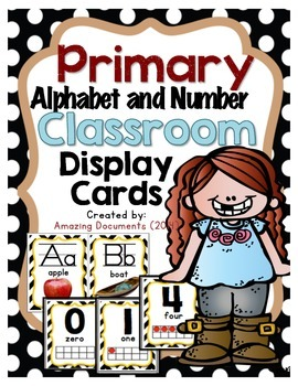Primary Alphabet and Number Display Cards