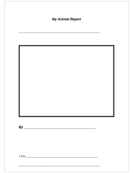 Primary Animal Report Template