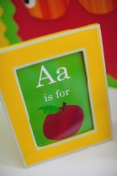 """Classroom Decor Primary Apple """"A is for Apple"""" Inspirational Print"""